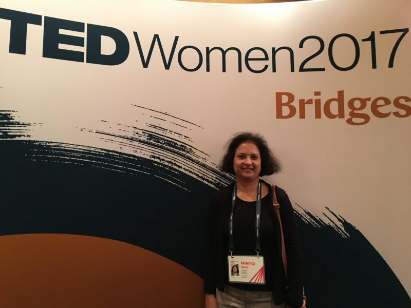 Anuvaadika Monika Saraf at TEDWomen 2017 at New Orleans as a TED Hindi Translator